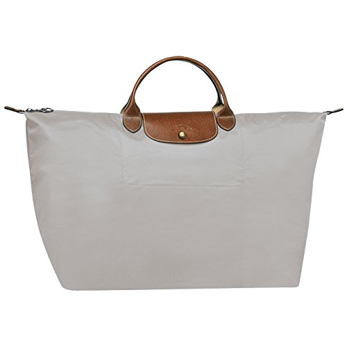 Longchamp Le Pliage Neo Shopping Tote Handbag Bag (L, Light grey) by Longchamp's style