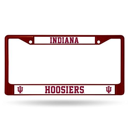 Rico Industries NCAA Indiana Hoosiers Team Colored Chrome License Plate Frame, Maroon