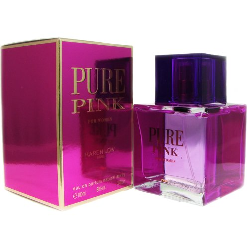 Women Pure Parfum (Karen Low Pure Pink Eau de Parfum Spray for Women, 3.4 Ounce)