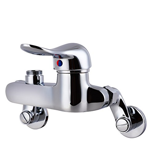 MS 4-8 Inch Adjustable Center Wall Mount 26'' Height Commercial Kitchen Sink Faucet Brass Mini Pre Rinse Unit With Pull Down Spray And 8 Inch Add on Spout ,Single Handle(M6810-1P) by MS (Image #2)