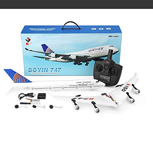 Amazingdeal Kids Remote Control Airplane Toy A150 Airbus B747 Model Plane RC Fixed-Wing 2.4G 3CH Training Machine