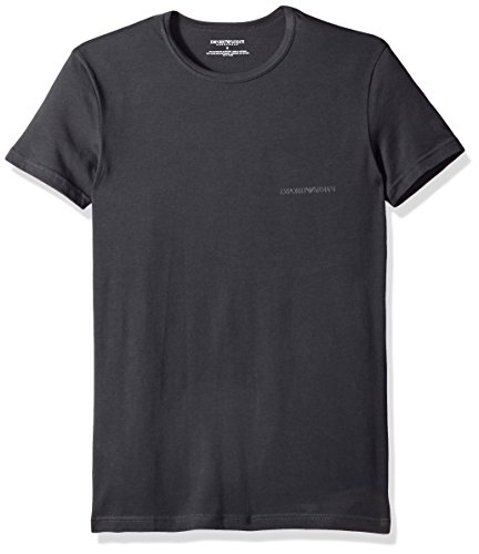 Emporio Armani Men's Stretch Cotton Multipack Crew Neck T-Shirt, Dark Gray, M - Emporio Armani T-shirt Top