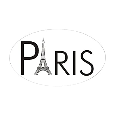CafePress - Paris Only Oval Sticker - Oval Bumper Sticker, Euro Oval Car Decal