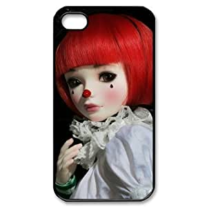 JFLIFE Clown Phone Case for iphone4 Black Shell Phone [Pattern-1] hjbrhga1544