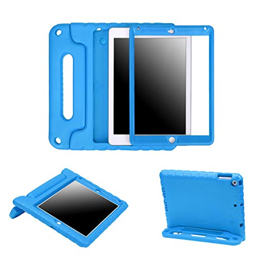 HDE Case for iPad 9.7-inch 2018 / 2017 Kids Shockproof Bumper Hard Cover Handle Stand with Built in Screen Protector for New Apple Education iPad 9.7