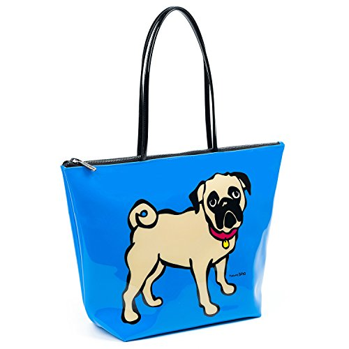 Marc Tetro , Damen Tote-Tasche Blue Pug