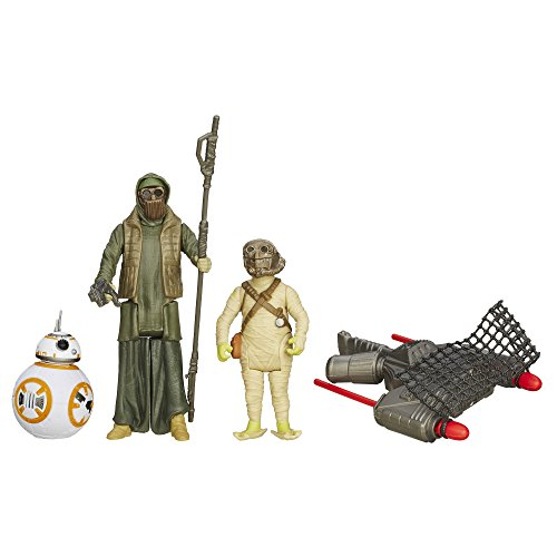 Star Wars The Force Awakens 3.75-Inch Figure 3-Pack Desert Mission BB-8, Unkar's Thug, and Jakku Scavenger