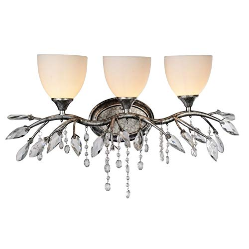 CWI Lighting 3 Light Wall Sconce with Speckled Nickel Finish