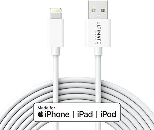 10ft Lightning Cable by UltimateBundle, iPhone Charger, Mos