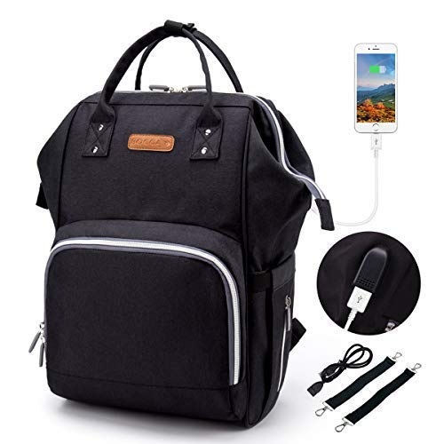 Baby Diaper Bag Backpack with USB Charging Port, Multi-Funct