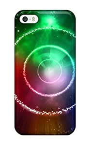 Hot Rainbow Star Circles First Grade Tpu Phone Case For Iphone 5/5s Case Cover Sending Screen Protector in Free