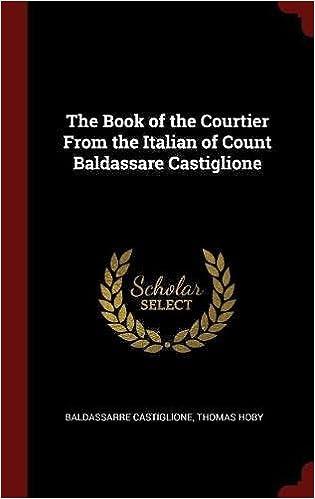 The Book of the Courtier From the Italian of Count Baldassare Castiglione