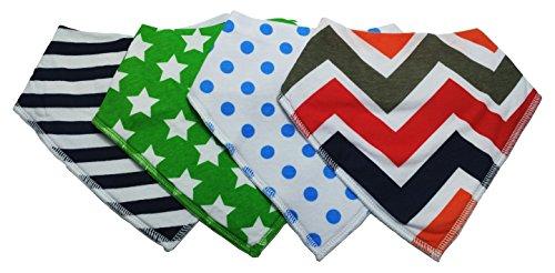 ESoulTech Designer Bandana Style Baby Bibs, Washable