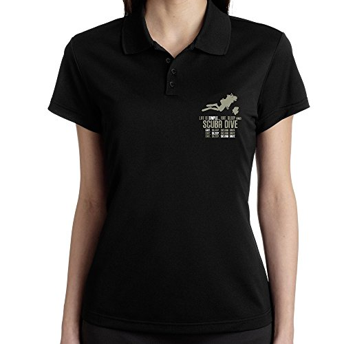 Teeburon Life is simple eat, sleep and Scuba Dive Polo Donna