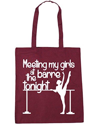 HippoWarehouse reunión mi las niñas en la Barre esta noche bolsa de la compra bolsa de playa 42cm x38cm, 10litros granate