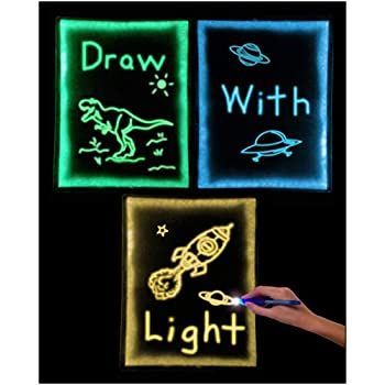 Amazon Com Discovery Kids Neon Led Glow Drawing Board