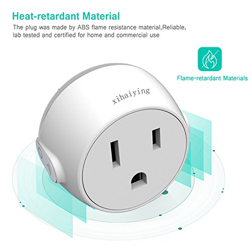 Durable Smart Plug WiFi Socket Outlet Remote Control 10 Amp Smart Life Adapter for Home Improvement, Works with Alexa, Google Home(FCC,ROHS,CE,Listed) by Jimtye (Image #6)