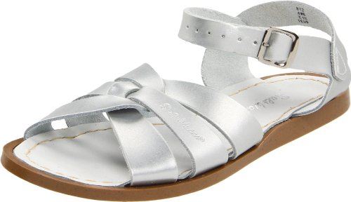 Salt Water Sandals by Hoy Shoe Original Sandal (Toddler/Little Kid/Big Kid/Women's), Silver, 13 M US Little Kid -