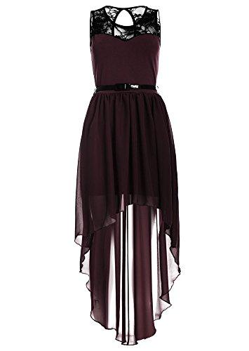 Kleid A Weinrot Damen Linie Drasawee FUa0wSqt