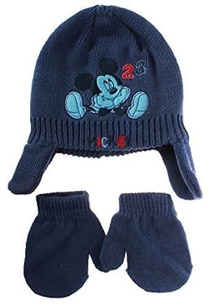 Bonnet péruvien et moufles bébé garçon Mickey Disney baby Bleu T44 (3 6mois) 47f4d33c76a