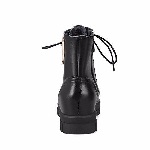 cuña Martin botas Black invierno de Terry en lady tacón aumento botas de metálica correa de diamond rq0rPHw