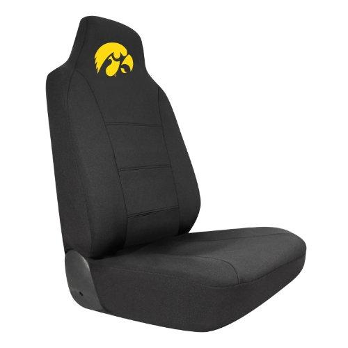 Pilot Alumni Group SC-924 Black Seat Cover with Logo (Collegiate Iowa (Iowa Hawkeyes Seat)