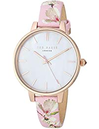 Women's ' 'Kate' Stainless Steel Analog-Quartz Watch with Leather Strap, Pink, 12: ((Model: TE50005019/17))
