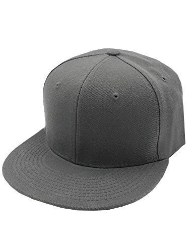 DECKY Men's Fitted Baseball Hat Cap Flat Bill Blank-6 7/8-Dark Gray ()