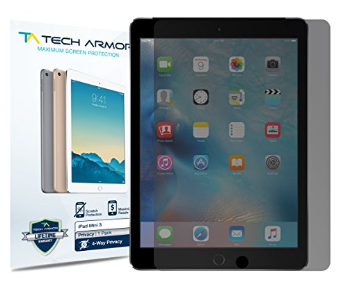 iPad Mini Privacy Screen Protector, Tech Armor 4Way 360 Degree Privacy Apple iPad Mini 1 / 2 / 3 Film Screen Protector [1-Pack]