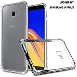 Johra Protective Soft Transparent Shockproof Hybrid Protection Silicone Back Case Cover for Samsung Galaxy J4 Plus