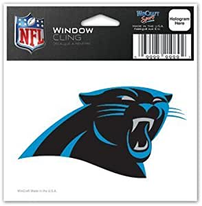 WinCraft NFL Carolina Panthers 63039012 Perfect Cut Color Decal 4 x 4 Black