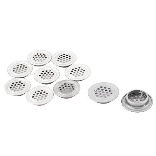 eDealMax rondes en acier inoxydable en forme de cuisine Mesh Air Vent Louver 24mm Dia fond 10pcs