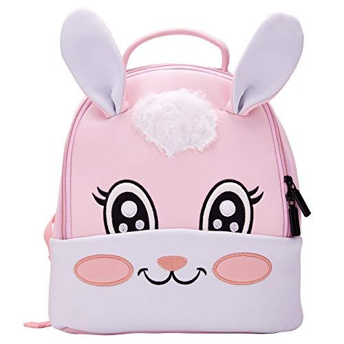 Toddler Baby Backpack 3D Waterproof Kindergarten Backpack Animal Preschool Backpack for Kids Girl Boy (Rabbit)