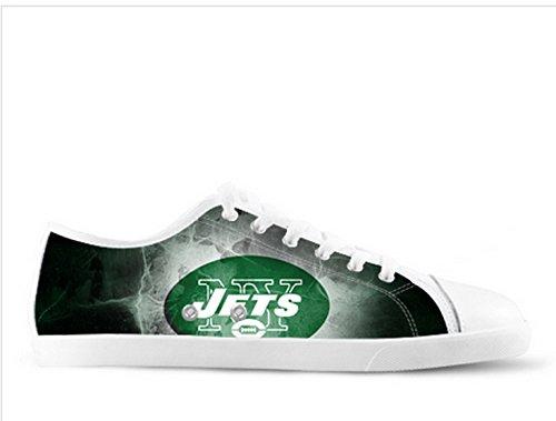 Jets Logo Ladys Sklisikker Lerret Sko Jets Lerret Shoes04 ...