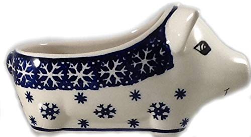 Polish Pottery Salt Pig Bowl in PZ or -