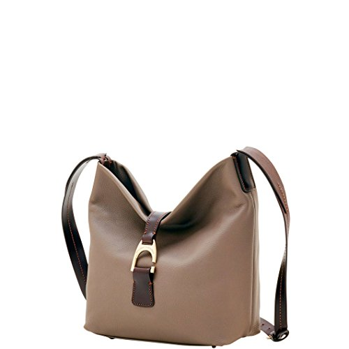 Dooney & Bourke Leather Hobo Bag - Dooney & Bourke Leather Belvedere Crossbody Hobo Shoulder Bag Taupe