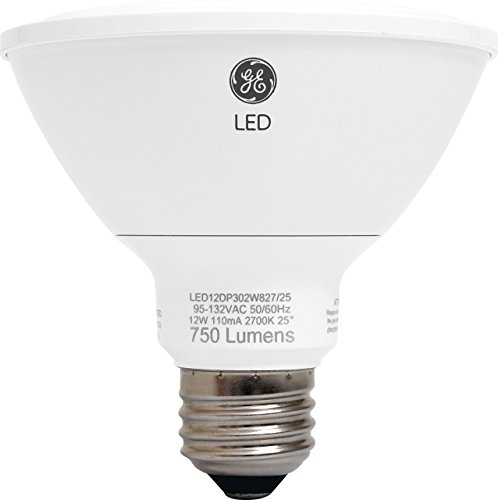 GE Lighting 89988 Energy-Smart LED 12-watt, 850-Lumen PAR30 Bulb with Medium Base, Soft White, 1-Pack