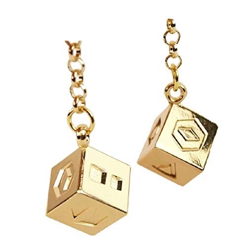 Joyfunny Han Solo Dice Lucky Charms Jewelry for Hansolo Cosplay Costumes Replica Accessories (Large Chain Cube) ()