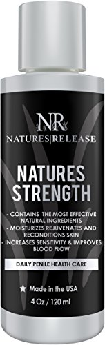 Natures Release Natures Strength 4.0 Oz - Natural Penile Health Cream - Best for dry, red, cracked or peeling penile skin and Chafing Relief - Increases penile sensitivity by Natures Release