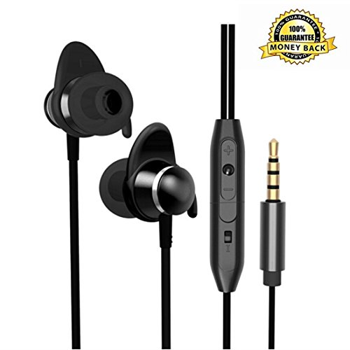 ZHIKE Wired Earbuds Microphone Mic In Ear Headphones Earphones Volume Control Corded Headsets Corded Noise Cancelling Sweatproof Remote for Woman Kids School Boys Girls Iphone Android Samsung IOS (Best Corded Phone Uk)