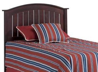 Finley Wooden Headboard Panel with Curved Top Rail Design, Merlot Finish, Full (Maple Traditional Headboard)