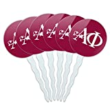 Graphics and More Alpha Phi International Women's Fraternity Sorority Logo Cupcake Picks Toppers Decoration Set of 6