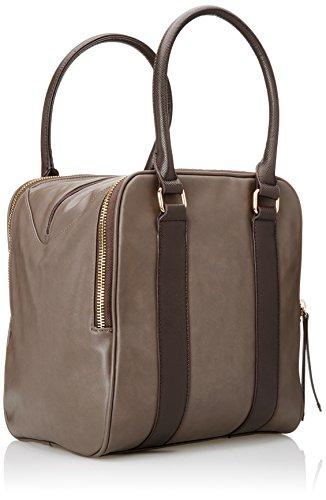 Handbag Mano Bolso Cm De Line Gaudì greige Mujer Gray Amber 26x30x21 FSdqwT0