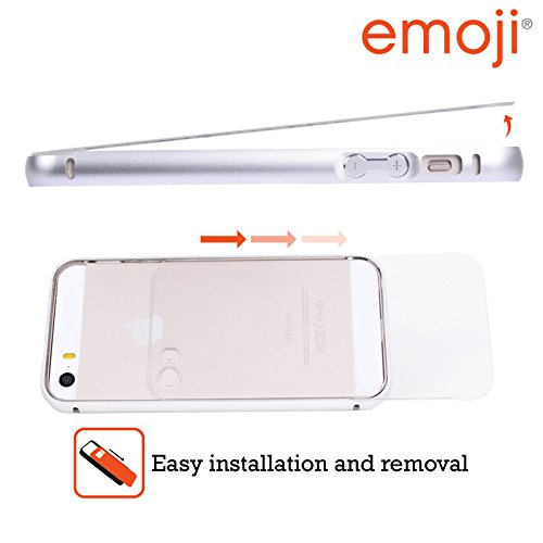 Officiel Emoji Singe Cool Copies Assorties Argent Étui Coque Aluminium Bumper Slider pour Apple iPhone 5 / 5s / SE