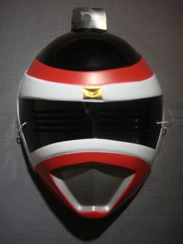 (The Power Rangers Red Ranger PVC Mask Child Size Rubies Halloween Dress)