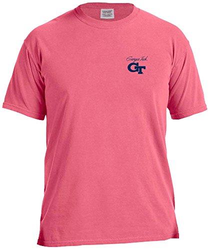 NCAA Georgia Tech Marquee Comfort Color Short Sleeve T-Shirt, Crunch Berry,Crunchberry