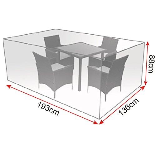 WOLTU/® GZ1172tp Coperture per Mobili da Giardino Tavoli Sedie Telo di Copertura Protezione Cover PE 193x136x88 cm