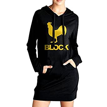 Cock Block Fashionable Funny Graphic Hoodie With Long Sleeves Sweatshirt For Women
