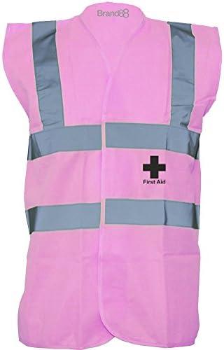LITTER PICKER Black Hi-Vis High-Vis Visibility Safety Vest//Waistcoat