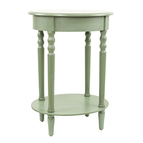 Décor Therapy Simplify Oval Accent Table, Antique Green by Décor Therapy